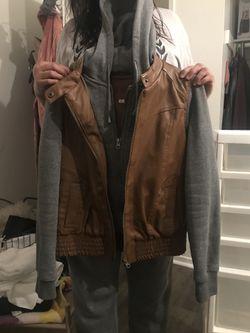 Pleather brown jacket Thumbnail