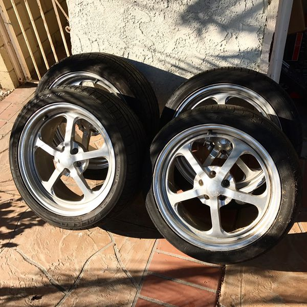 Hotrod Wheels Budnik Tiller Aluminum 2 Piece Weld For Sale