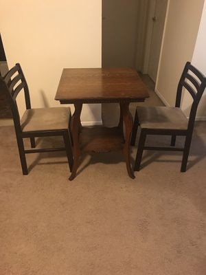 """3 pieces dinette set brown wood 30"""" tall table with 2 chairs click on my profile picture for more listings interested message me for Sale in Gaithersburg, MD"""