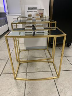 Gold Accent Side Table Set Thumbnail