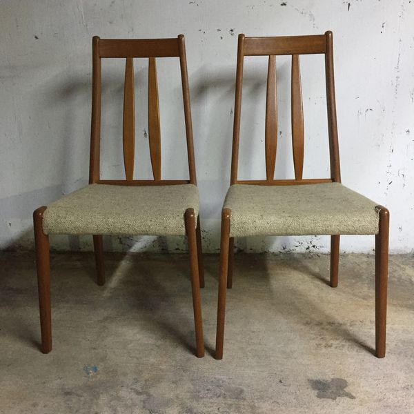 pair of mid century modern danish teak chairs for sale in miami