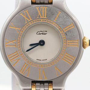 Cartier Must de Cartier 18k Yellow Gold and stainless Steel Wristwatch for Sale in Arlington, VA