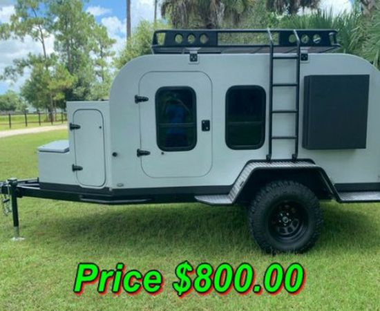 Photo  URGENT 8OO For Sale 2018 Teardrop Overland Trailer Clean title!In very good condition.