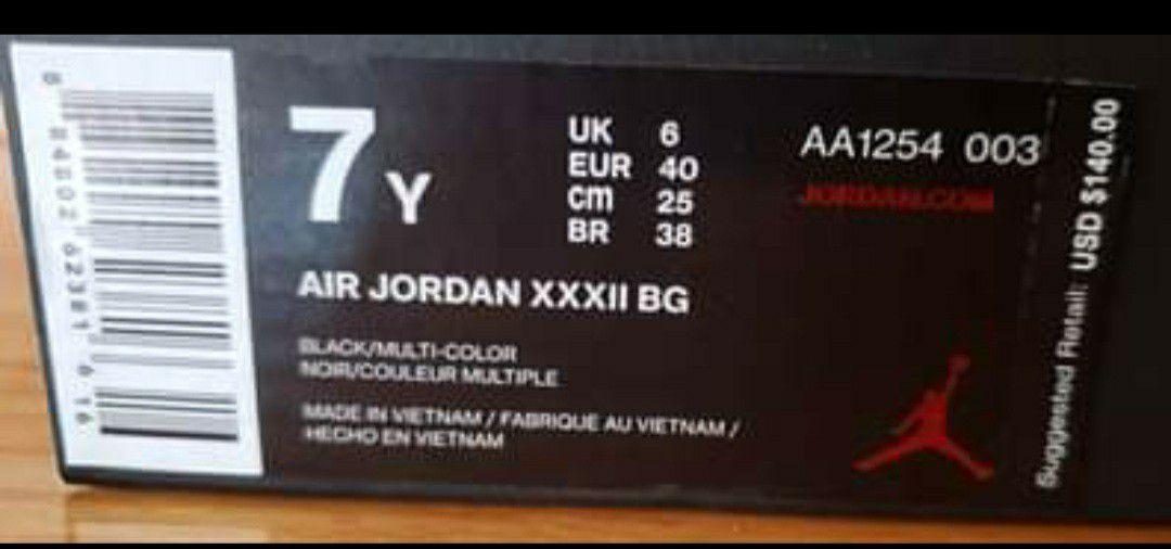 Jordan 32 Blackcat - size 7Y