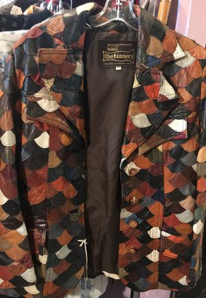 Awesome vintage leather jacket fish scale layers for Sale in Denver, CO
