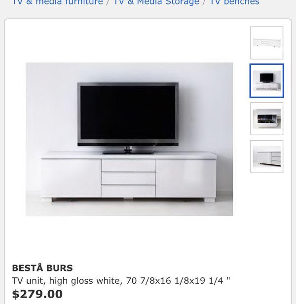 Ikea Besta Burs Tv Meubel Rood.Ikea Besta Burs Tv Unit Dark Grey Lots Of Storage Limited Sale For Sale In Queens Ny Offerup