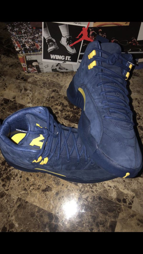 a2ce5d7452a Nike Air Jordan Retro Michigan 12s *Size 12* for Sale in Franklin ...