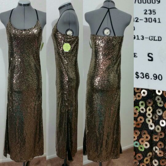 8332263a623 New small gold Sequin prom dress for Sale in Tempe