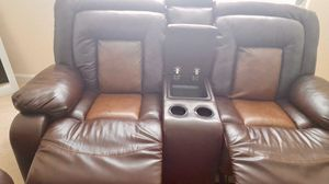 Set of brown leather chairs and recliners for Sale in Hyattsville, MD