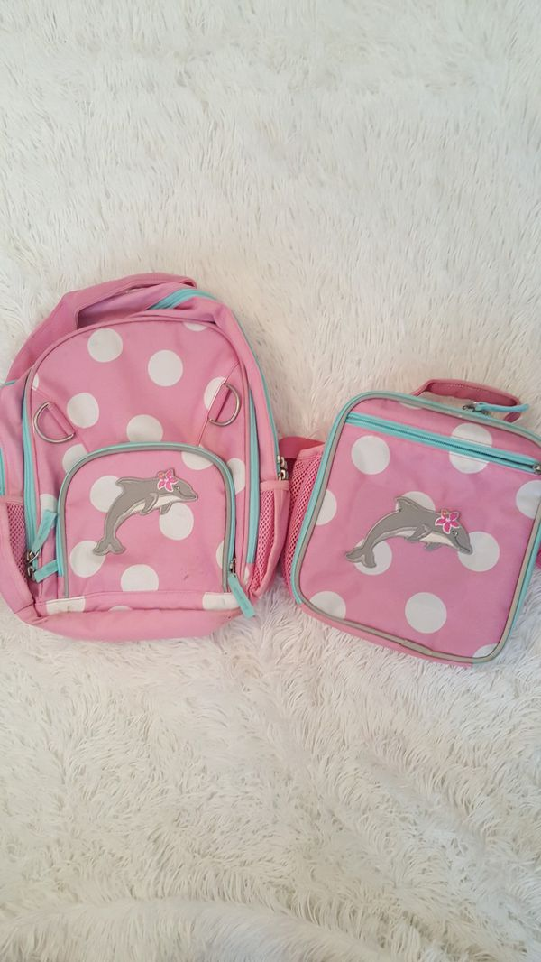 Girls Pottery Barn Backpack And Matching Lunchbox For Sale In