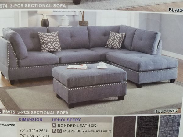 Sectional Sofa With The Free Ottoman 39 Down For In Haltom City Tx Offerup