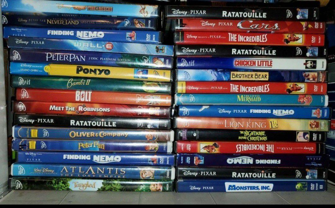 124 Disney Dvds Classic Platinum Pixar RARE