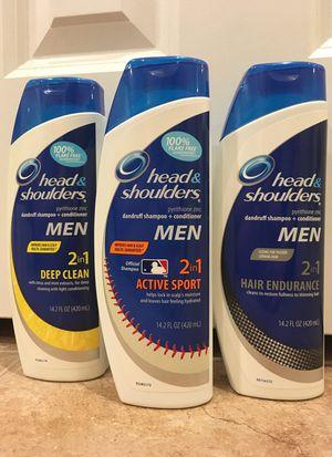 Set of 3 Head & Shoulders men 2-in-1 shampoo for Sale in Alexandria, VA