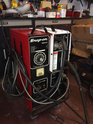 MiG/tig welder One use gotten one brand new gun one new spool of wire one new helmet for Sale in Saint Cloud, FL