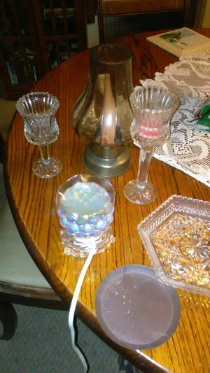 Misc. Candle holders and electric essential oil burner. for Sale in Barryton, MI