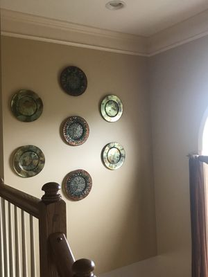 Decorative Mosaic Glass Plates with wall hangers for Sale in Ashburn, VA