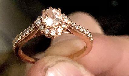 Rose gold  Engagement Ring Morganite  Thumbnail
