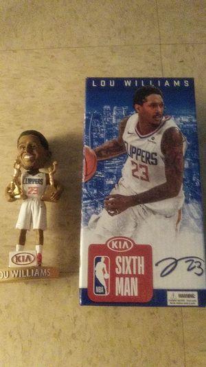 Photo NBA #23 LOU WILLIAMS LA CLIPPERS KIA SIXTH MAN TWO-TIME AWARD WINNER 2014-15 · 2017-18 BOBBLEHEAD