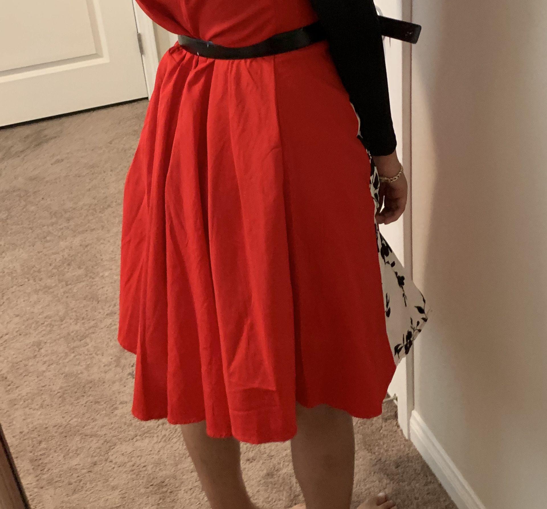 Red 3XL Dress