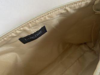 """Lancôme Paris gold color gorgeous cosmetic bag. 12""""X 6.5""""and 2.5"""" Thumbnail"""