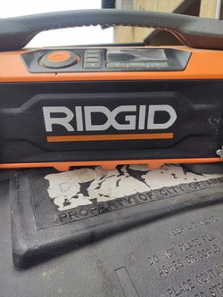 Ridgid. Blue Tooth Radio Thumbnail