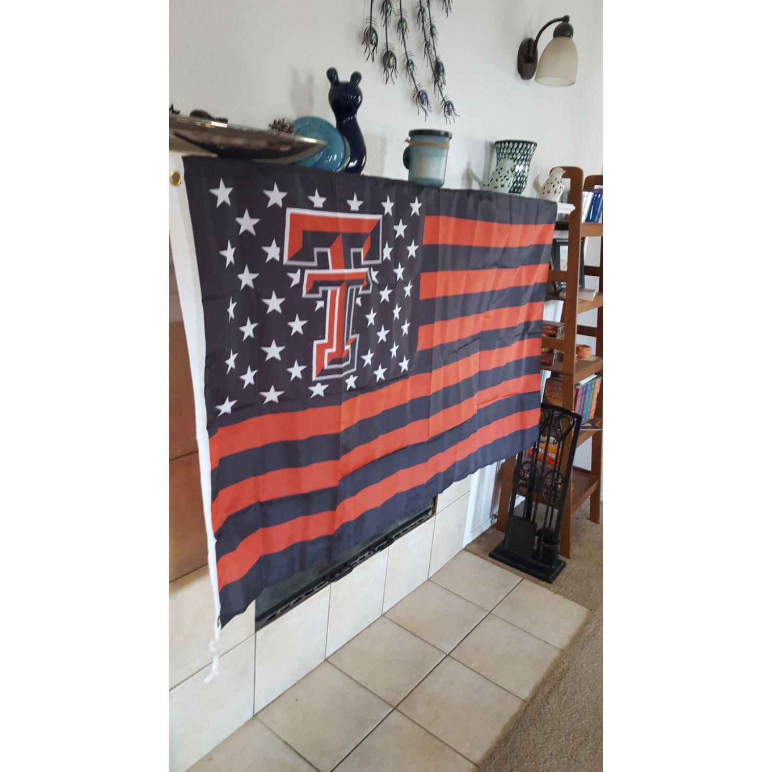 Texas Tech Red Raiders USA Style Flag Banner 3x5 Feet New in Bag