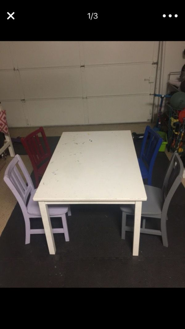 Pottery Barn Kids Art Table Kids Play Table Chairs For Sale In - Pottery barn art table
