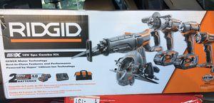 Ridgid next Gen5x 5-tool combo kit. Brand new for Sale in Orlando, FL