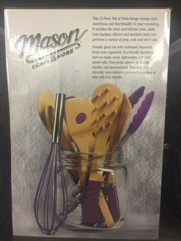Mason 12 Pc Tub Of Tools Purple Household In Carson