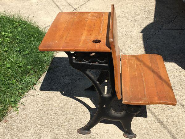 - Antique School Desk For Sale (Antiques) In Warren, MI - OfferUp