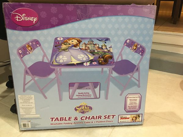 Sofia the first table and chair set (Baby & Kids) in San Leandro, CA ...