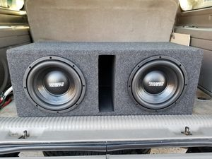 Photo Must hear 2 10 Sundown audio Subs in ported box brand new