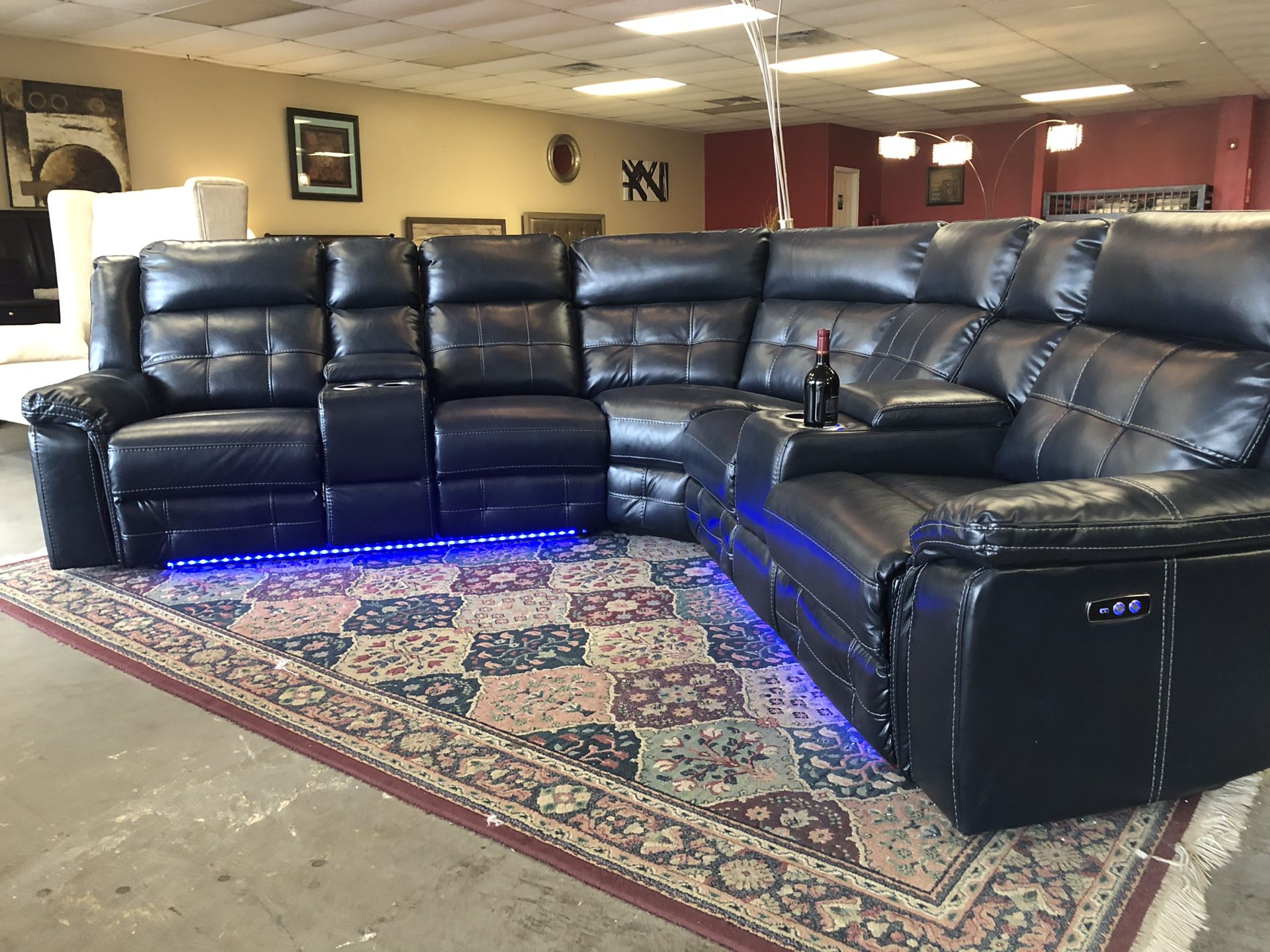 Brand new starlight sectional sofa with power recline