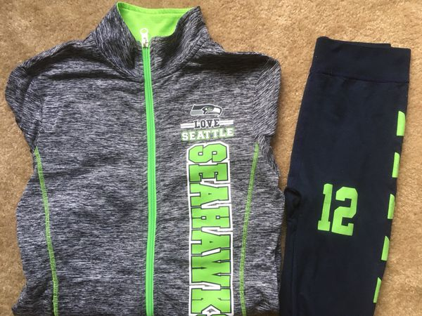 save off f8561 ff42b Girls Seahawks jacket and leggings size Youth Xl for Sale in Arlington, WA  - OfferUp