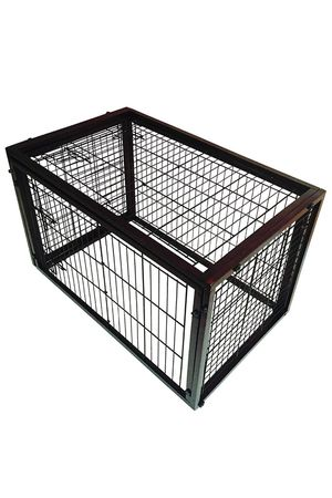 Simply Plus Deluxe Wooden Dog Crate [2017Newly Designed Model], Solid Wooden Frame+ Metal w / Divider & Tray for Sale in Arlington, VA