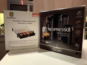 Nespresso VertuoPlus Deluxe Coffee and Espresso Maker Bundle for Sale in Arlington, VA