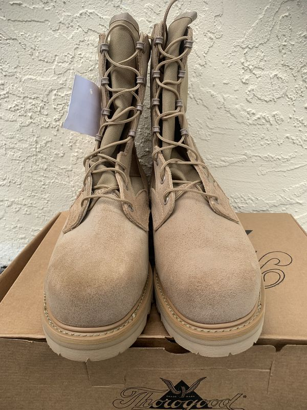 67f906324e6 US ARMY THOROGOOD DESERT TAN HOT WEATHER STEEL TOE BOOTS SIZE 8 1/2 XW NEW  for Sale in Stuart, FL - OfferUp