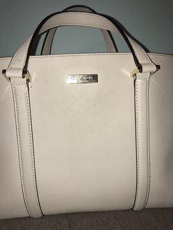 Cream Kate Spade Purse with optional shoulder strap Thumbnail