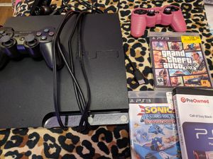 Ps3 with controllers, web camera and games for Sale in Fort Worth, TX