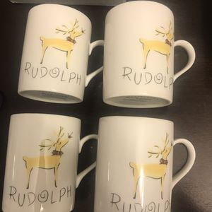 New Pottery Barn Set Of 4 Rudolph Collectible Mugs for Sale in Gaithersburg, MD