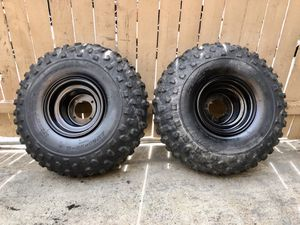 Photo Yamaha blaster rear tires and rims