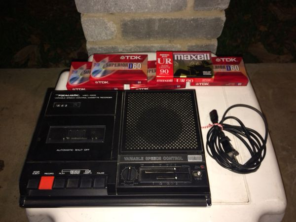 Radio Shack Non Working Cassette Player With New Cassette