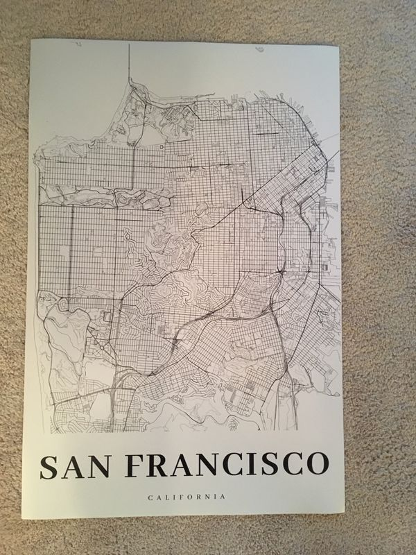 San Francisco Map Poster 20x30 for Sale in Daly City, CA - OfferUp on yellowstone national park map print, springfield mo map print, united states map print, ohio map print, california print, ft. lauderdale map print, napa valley wineries map print, charleston map print, guadalajara map print, michigan map print, new orleans french quarter map print, long island map print, paris map print, phoenix area map print, los angeles print, missouri map print, chiang mai map print, new york map print, disneyland map print, cocoa beach map print,