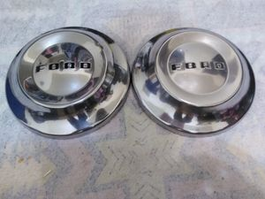 Photo (2) 1960s FORD DOG DISH HUBCAPS