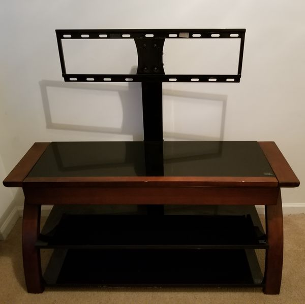 Whalen Tempered Glass Tv Stand With Drawer For Sale In Columbia Sc