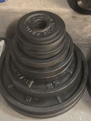 Photo Complete matching set of Olympic weight plates