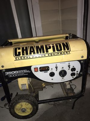 Photo Champion 3500 watt portable generator