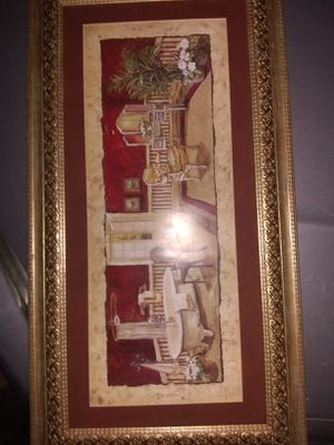 old fashioned bathroom picture art framed picture for Sale in San Clemente, CA