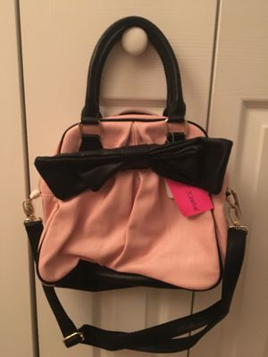 Betsey Johnson Pink Black Bow Purse for Sale in Falls Church, VA