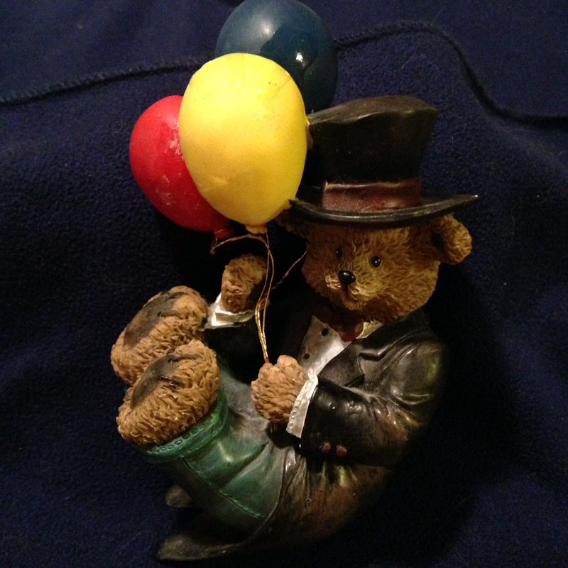 Cute Resin Bear with Balloons Collection Series Number One from the Home and Garden parties